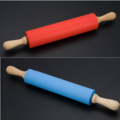 Large Size Food Grade Silicone Rubber Rolling Pin with wood handle